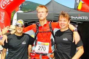 equipo ultraoxigeno  en meta maraton alpino madrileño 2009